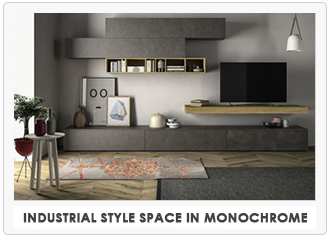 Industrial Style Space in Monochrome