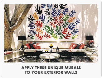 Apply these unique murals to your exterior walls