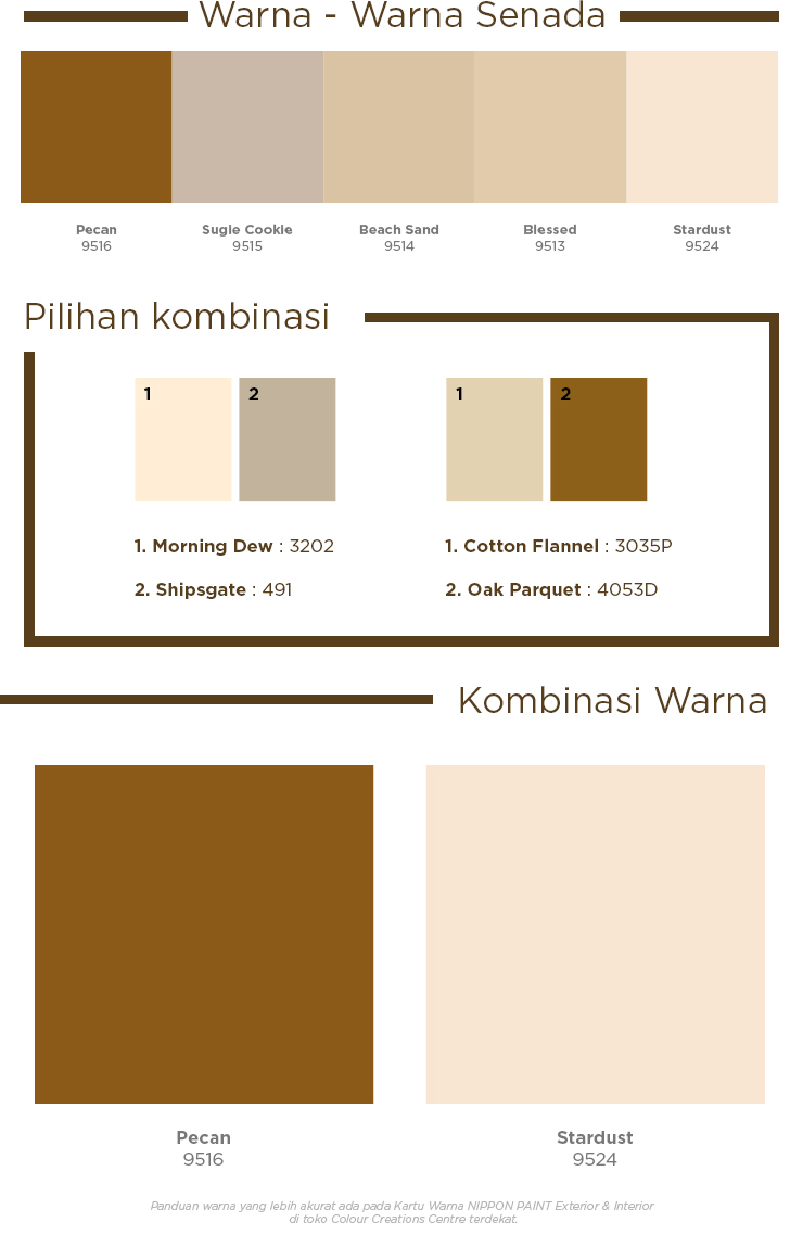 Nippon Paint Indonesia The Coatings Expert Homey Colour Palette