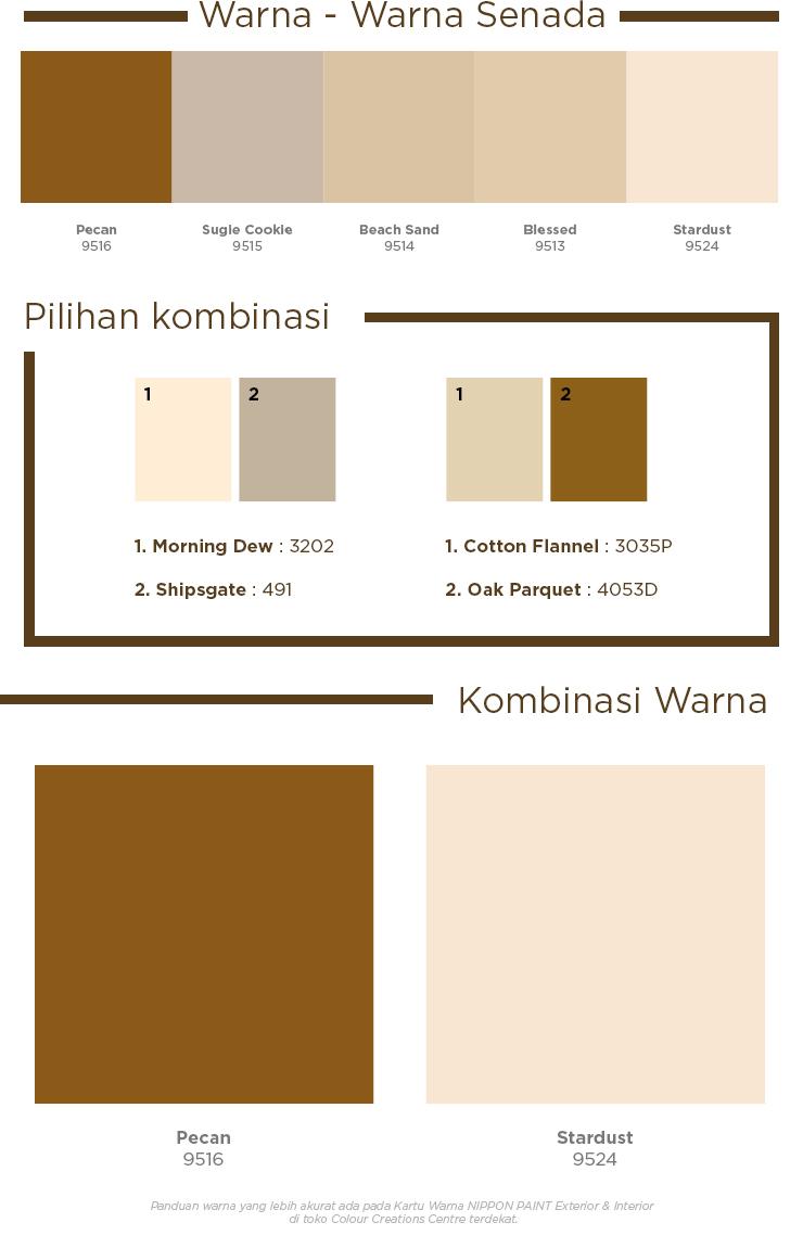 Nippon Paint Indonesia The Coatings Expert Homey Colour Palette Kombinasi warna coklat muda